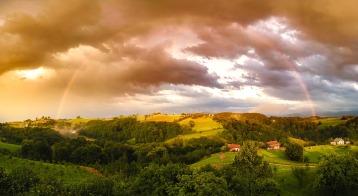 vue paysage arc en ciel